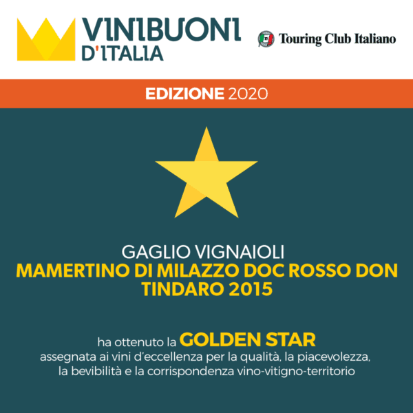 Golden Star Vini Buoni d'Italia Don Tindaro